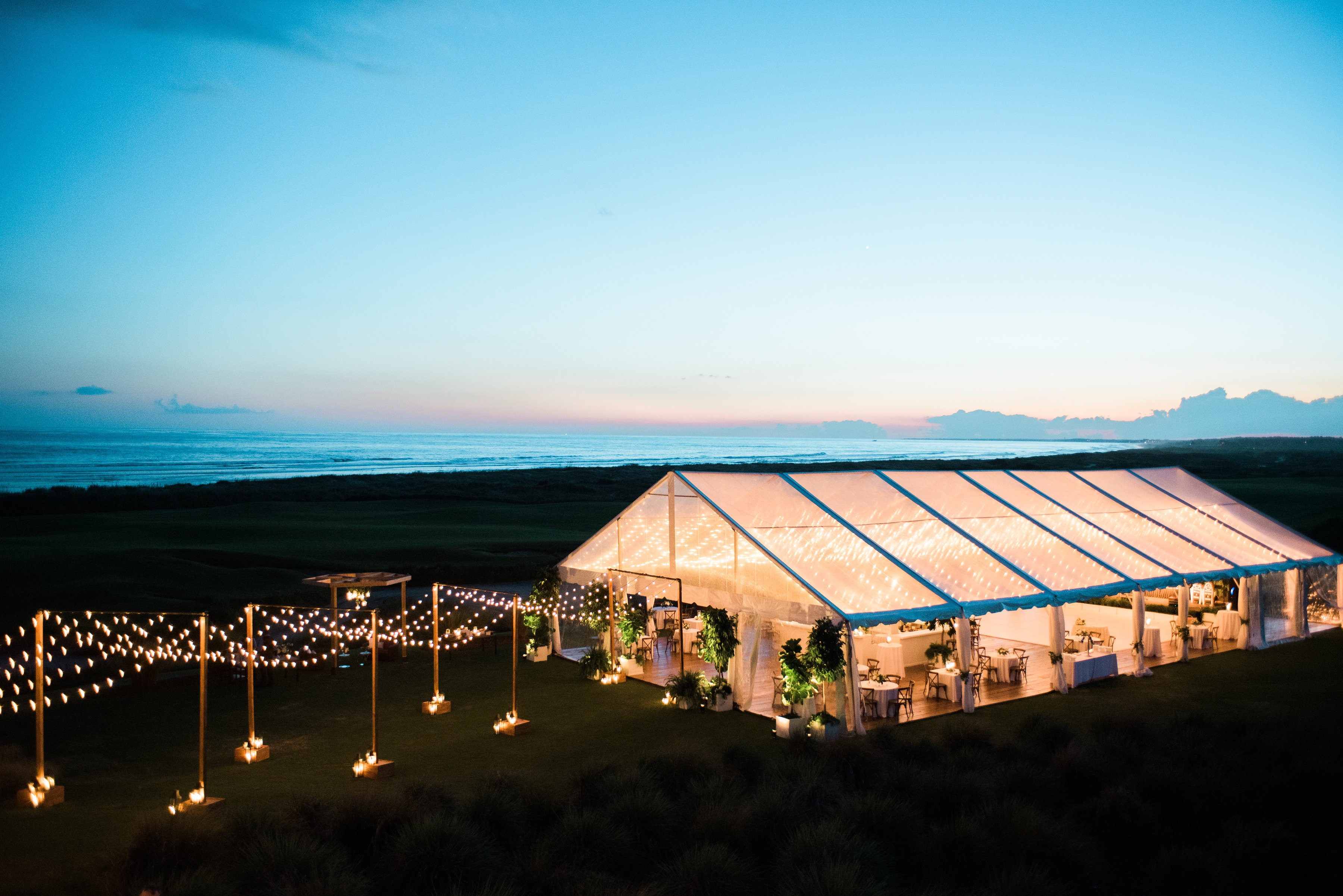 Stunning Tented Wedding on the Ocean Course - WED
