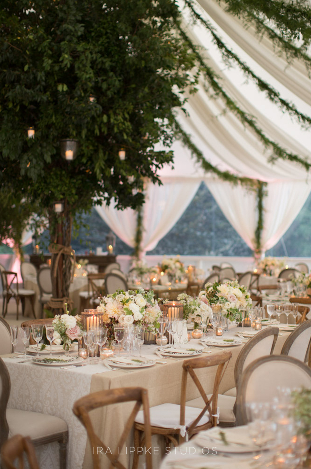 Romantic Tented Wedding - Leslie Mastin Events