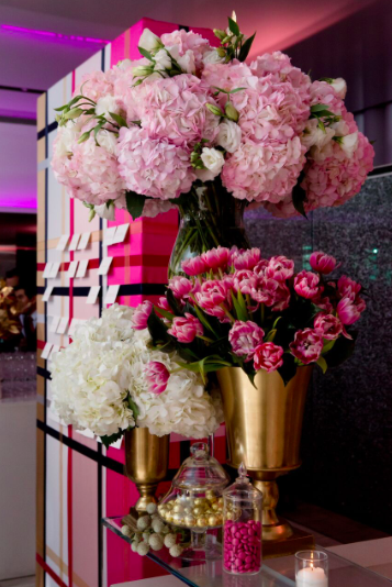 Pretty in Pink Bat Mitzvah - Urban Art & Design
