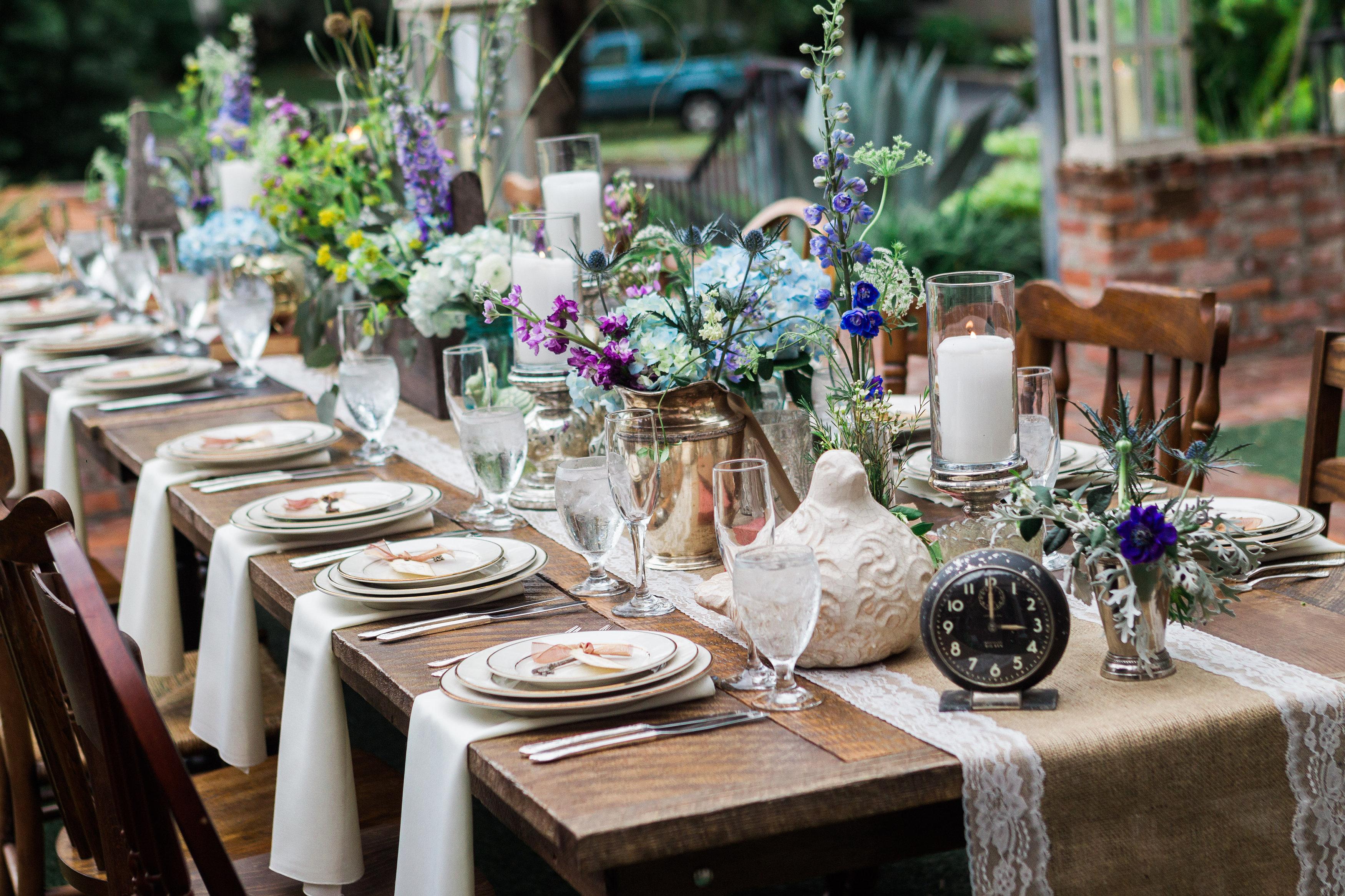 Vintage Garden Wedding at Casa Feliz - Table 6 Productions –Florida