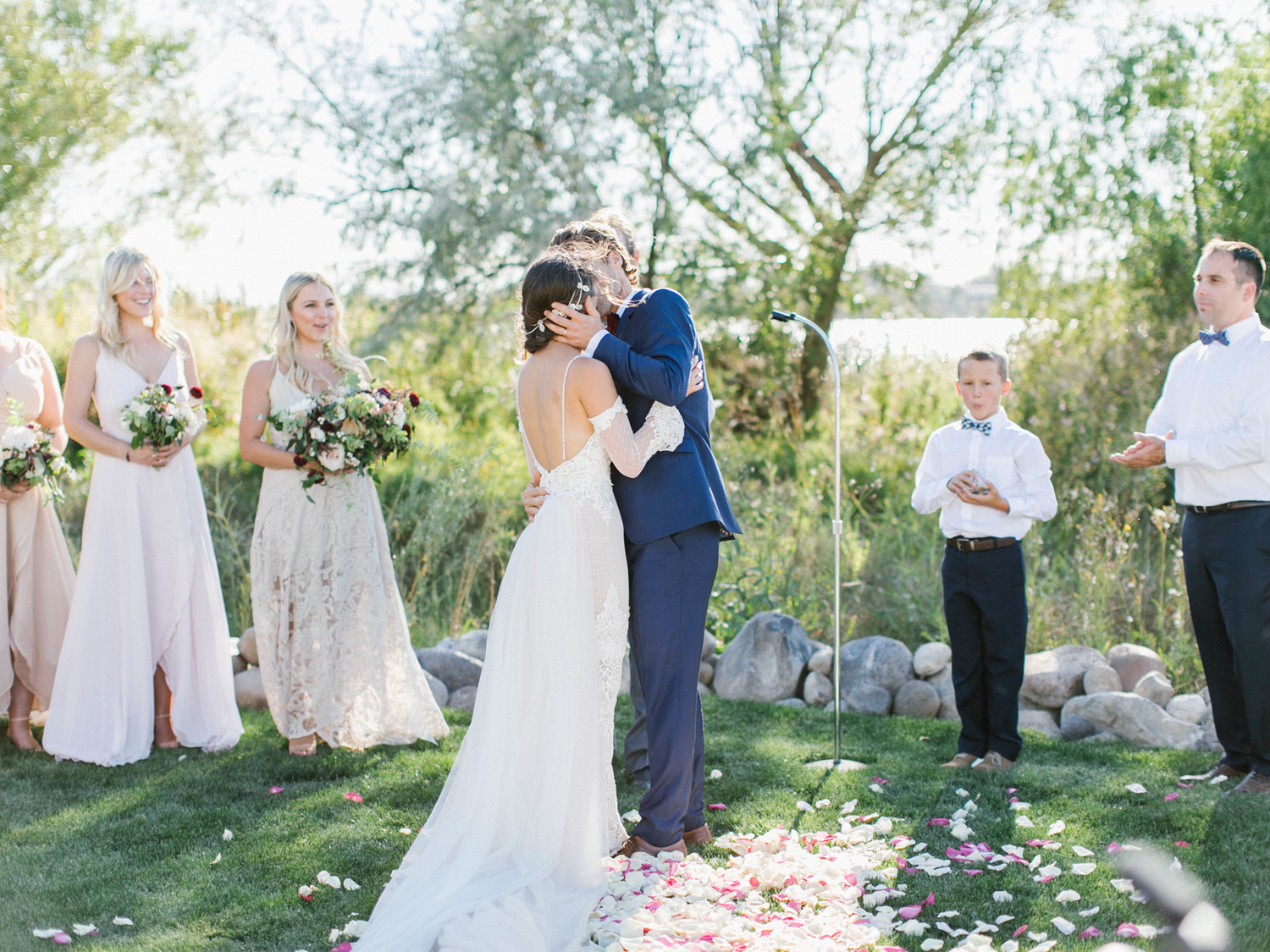 Romantic Backyard Wedding - Maria Lamb