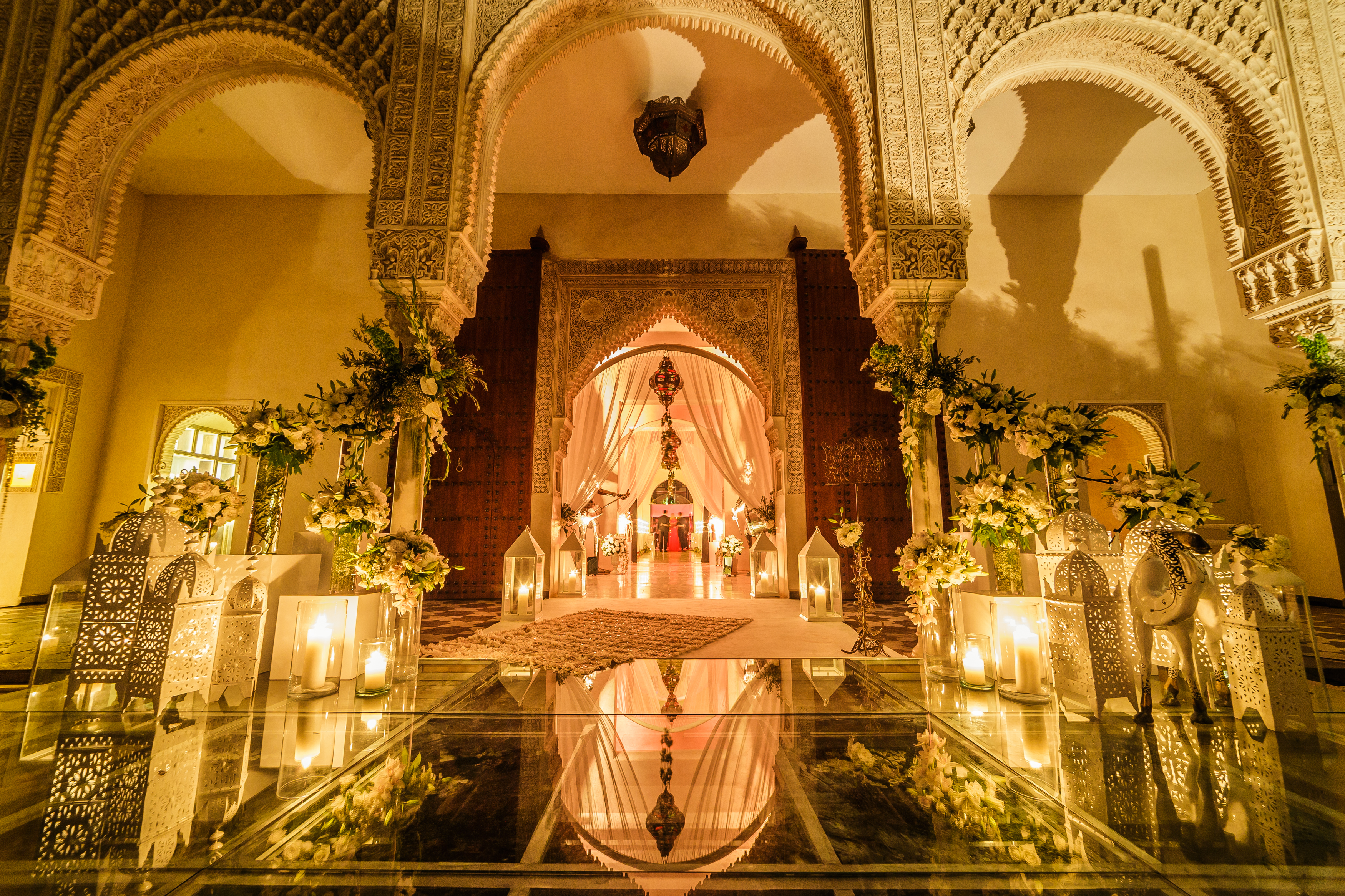 Elegant White Moroccan Wedding - Cocoon Events Management Group