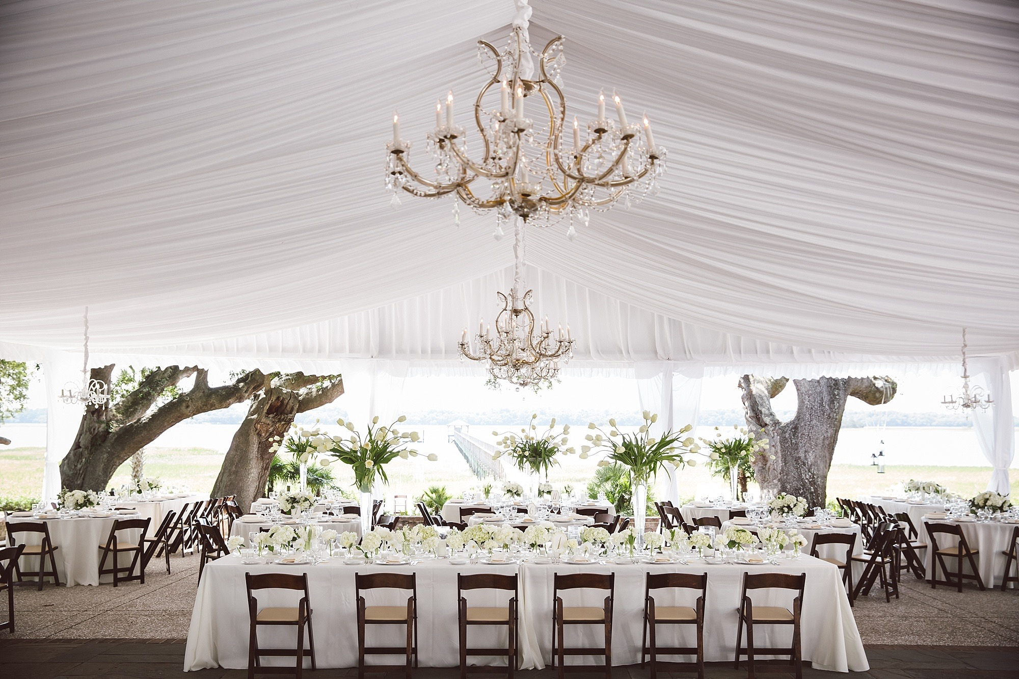 White Chic Tented Wedding - WED