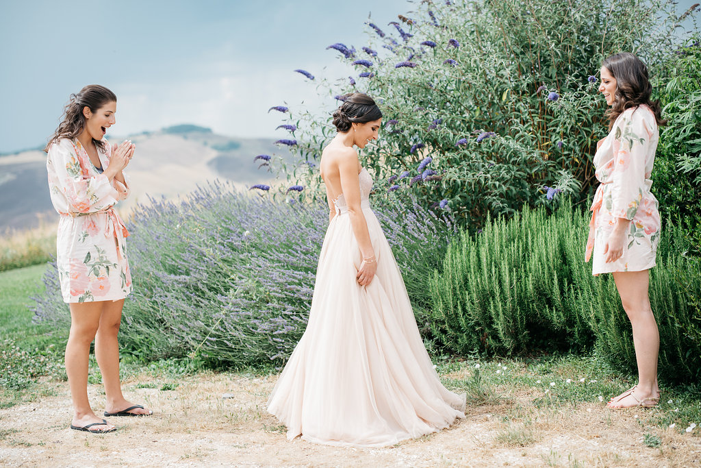 Blushing Tuscany Wedding - Laurel & Rose