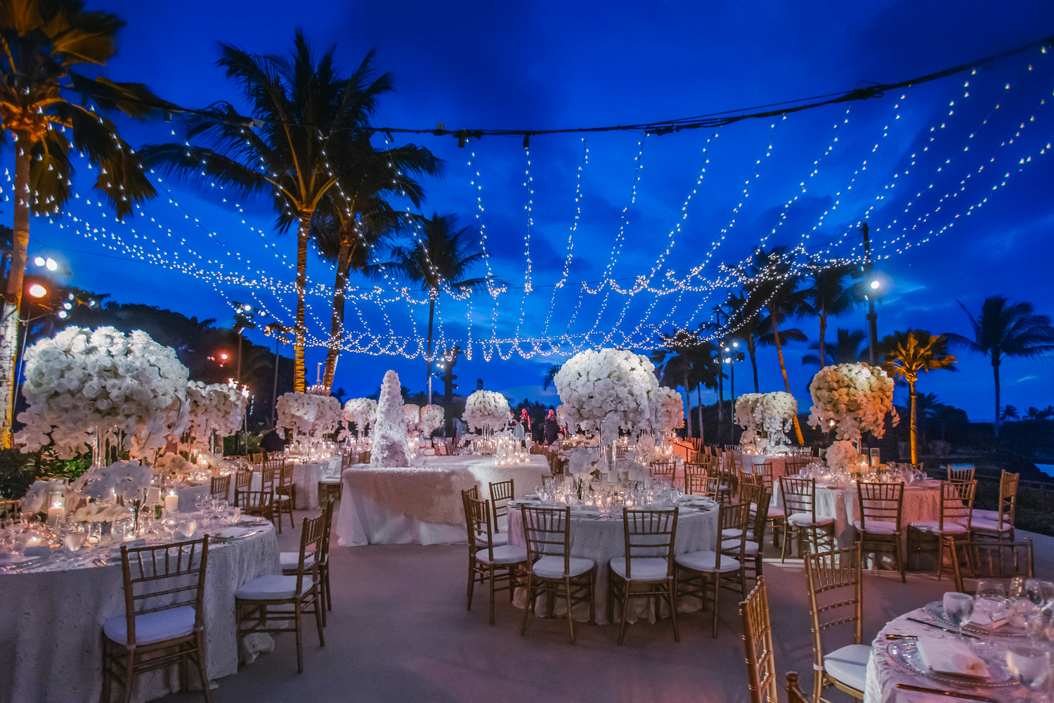 Waterfront White & Rose Wedding - Mindy Weiss Party Consultants