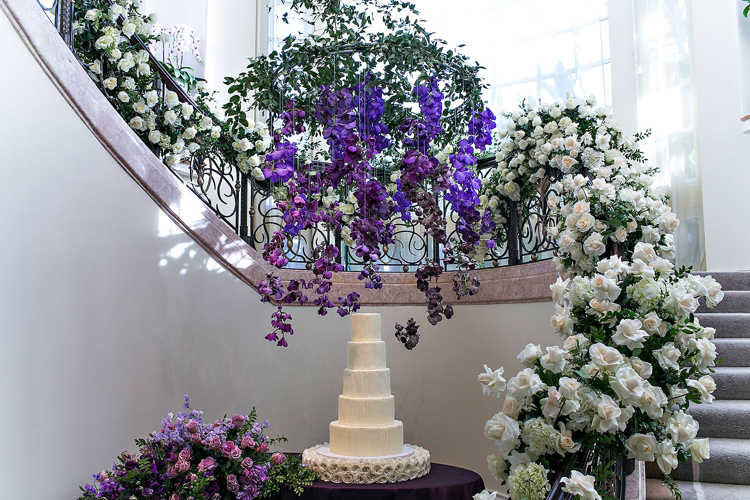 Purple Garden-Inspired Wedding - Marks Garden