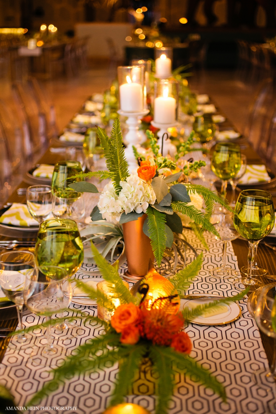 Green, Marigold and Red Garden-Inspired Wedding at The Field Museum - LK Events