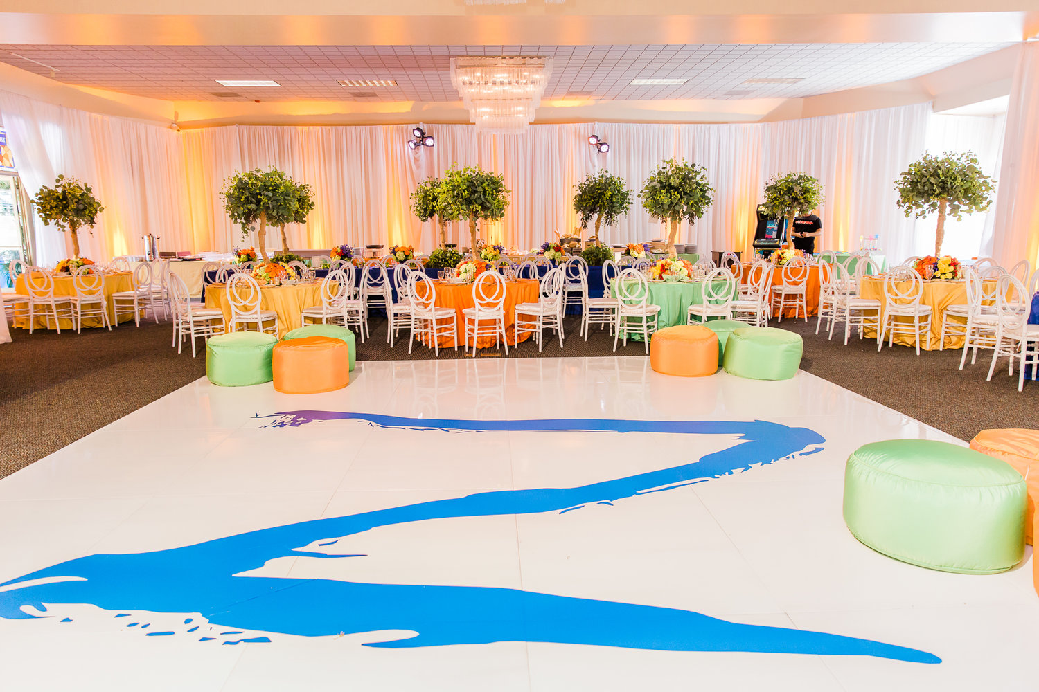 Colorful Forest Inspired Bar Mitzvah - Veronique Events