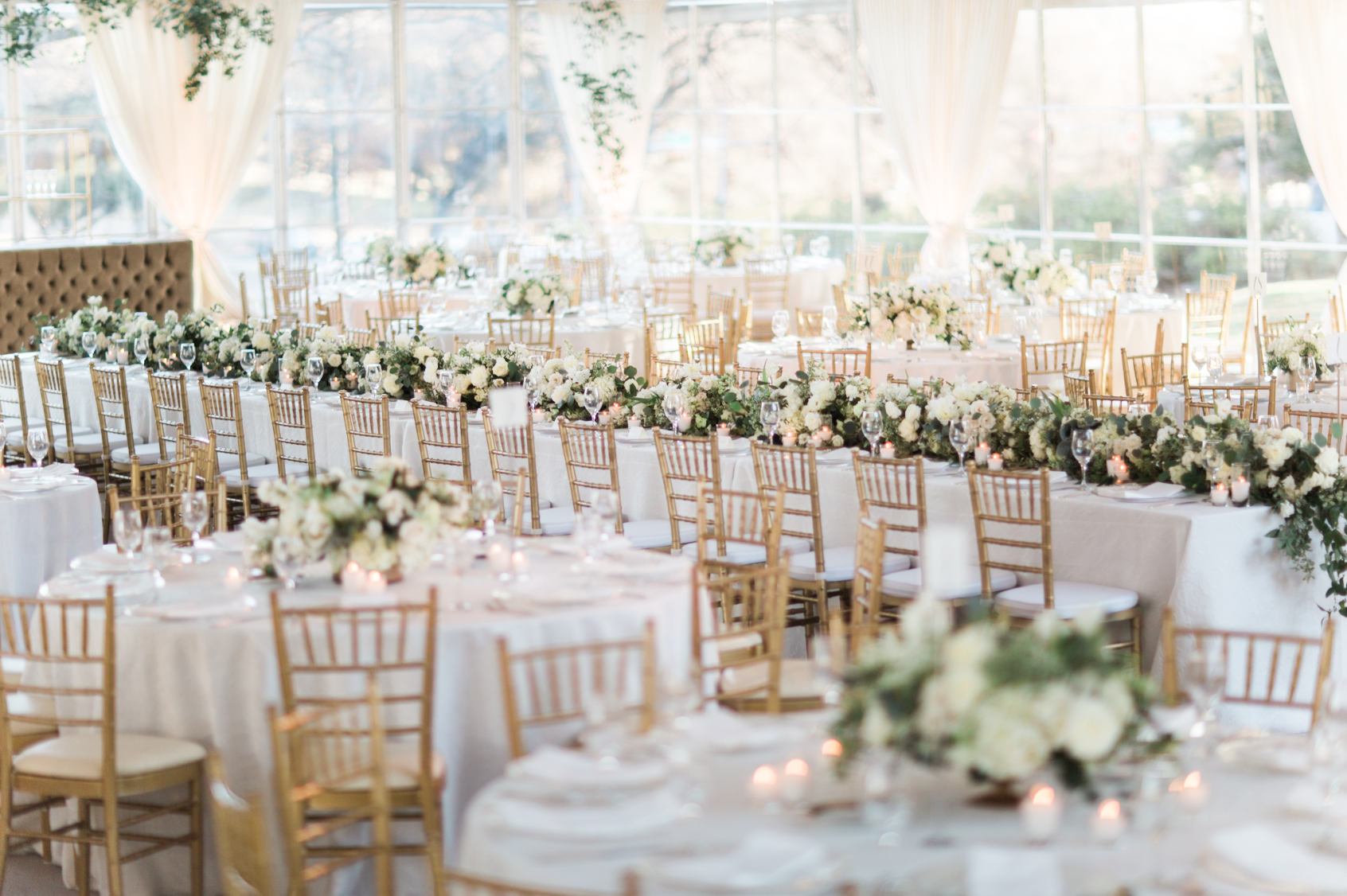 Classic Gold & White Tented Wedding - Stefanie Miles Events